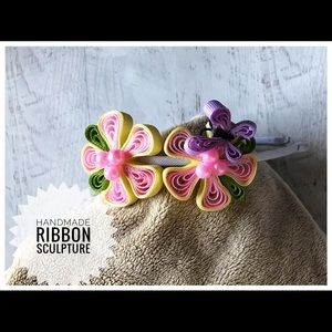 Other - Butterfly and flower ribbon sculpture headband